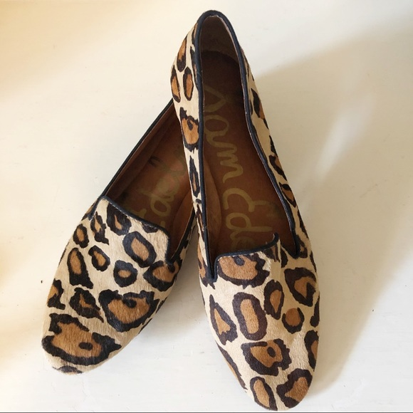 0048d2a25a8 Sam Edelman Jordy Calf-hair Leopard Loafers Size 7.  M 5c5a2b09c9bf5018935c509c